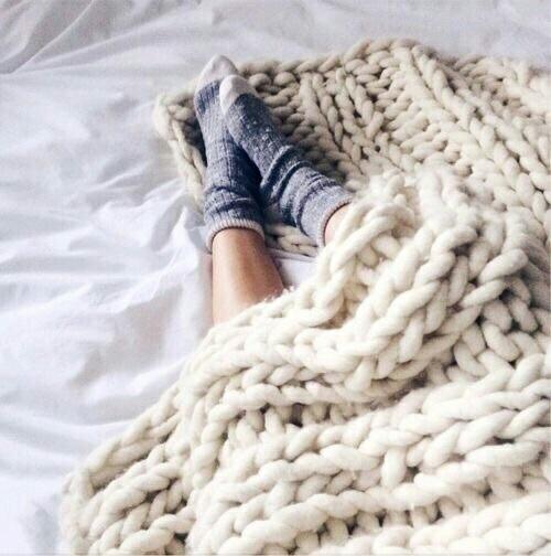 hygge, bed, socks, sunday